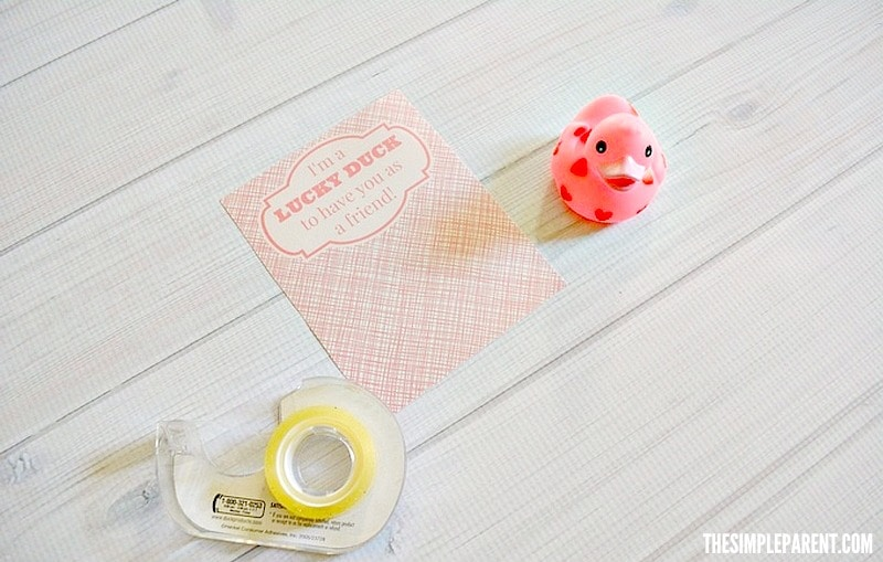 Follow these easy steps to make Valentine Day Rubber Duck cards!