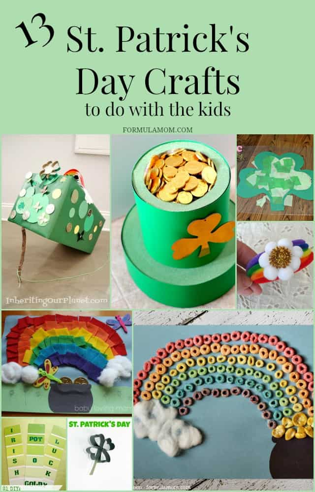 13 St Patricks Day Crafts for Kids!