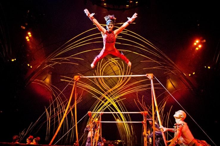 The Uneven Bars in Cirque du Soleil Amaluna