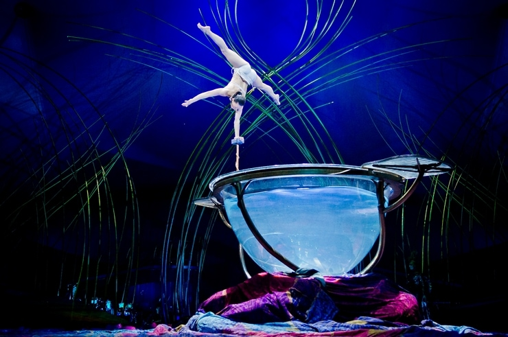 The Water Ball in Cirque du Soleil Amaluna