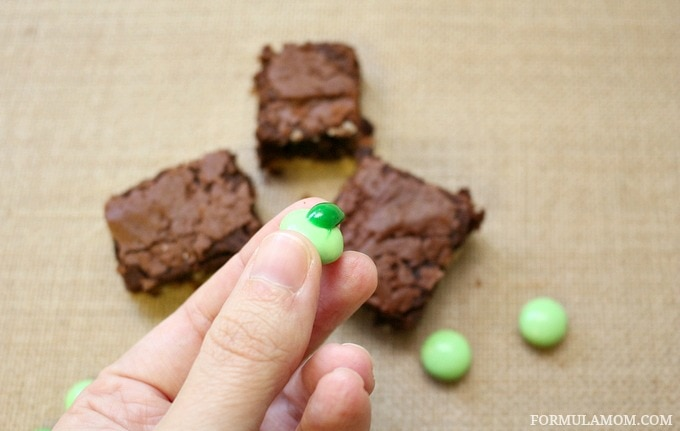 It's easy to make these Shamrock Brownies for St. Patrick's Day!