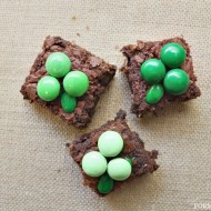Easy Shamrock Brownies