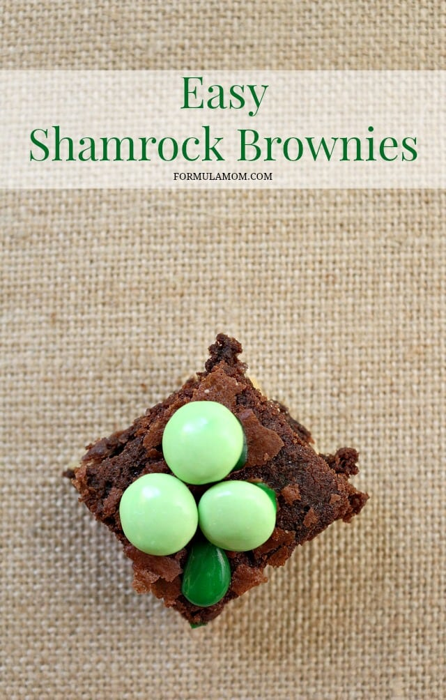 Easy Shamrock Brownies to Make with the Kids this St. Patrick's Day!