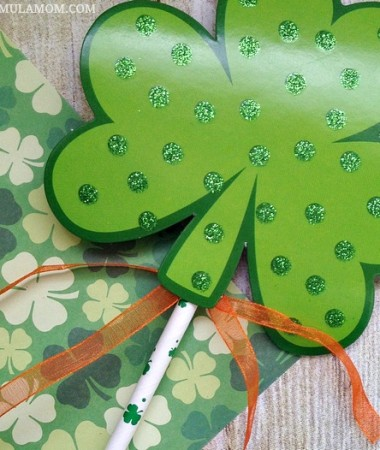 Shamrock Crafts for Kids: Leprechaun Wands