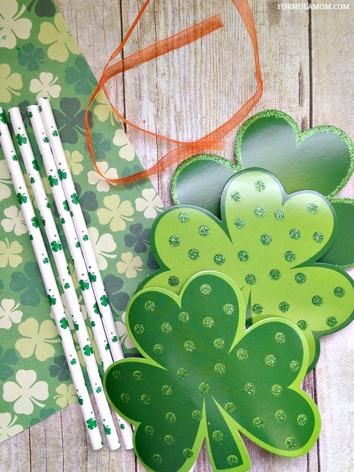 Easy Shamrock Crafts for Kids: Materials for Leprechaun Wands #StPatricksDay