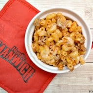 Baked Sloppy Joe Macaroni and Cheese