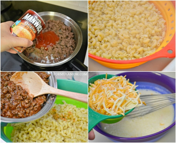 How to Make Baked Sloppy Joe Macaroni and Cheese