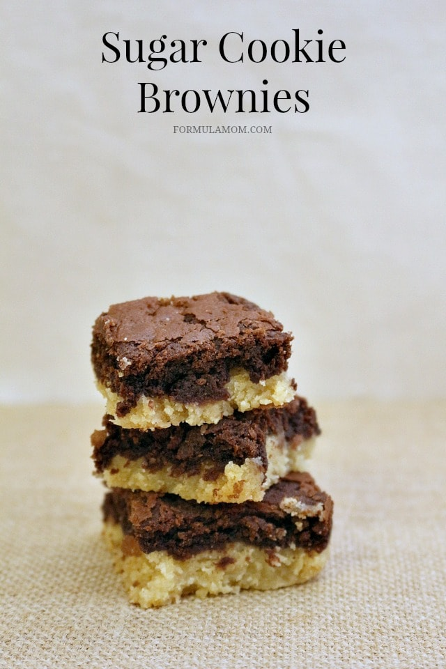 Sugar Cookie Brownies are Delicious and Easy to Make!