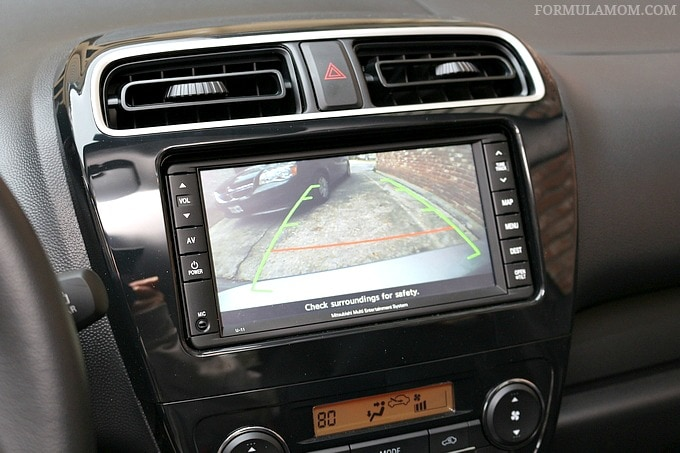 The Back Up Camera in the Mitsubishi Mirage is one of our favorite features!