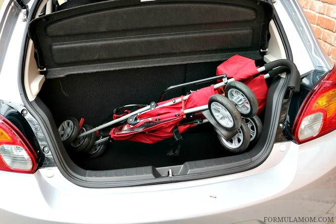 Does the Mitsubishi Mirage pass the stroller test?