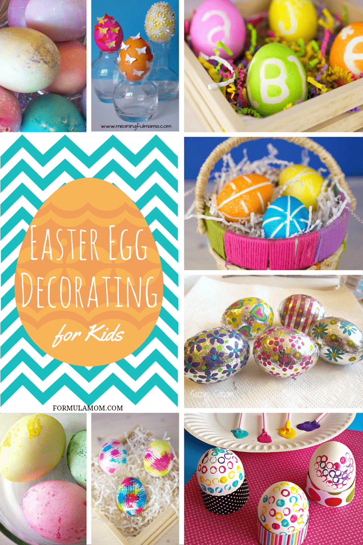 Check out these fun Easter Egg Decorating Ideas for Kids if you're looking to go beyond the usual coloring of your eggs! The kids will love these ideas!
