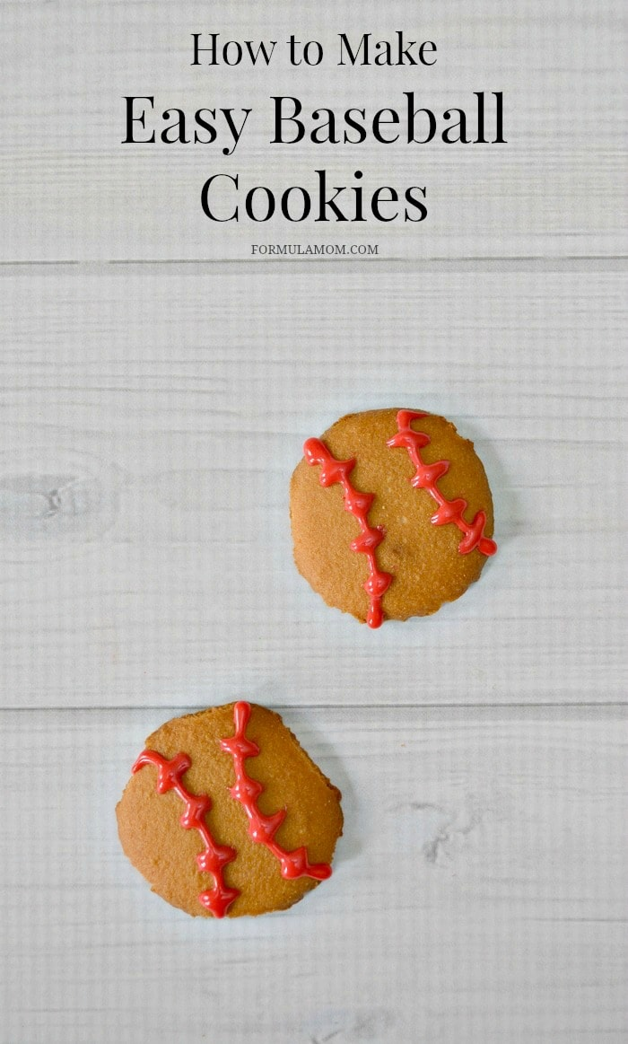 Learn how to make these Easy Baseball Cookies!