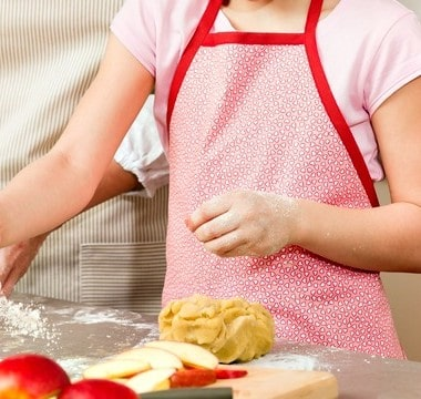 Letting the kids in the kitchen with you doesn't have to be scary with these easy tips!