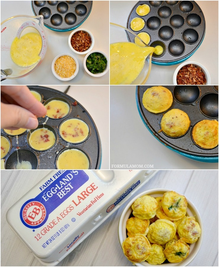 Check out how easy it is to make Egg Omelet bites for breakfast!