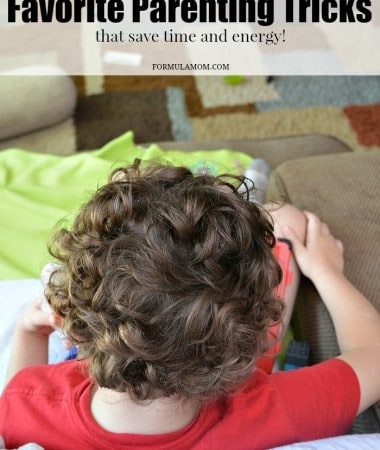 Check out some of my favorite parenting tricks! They are easy tips to help save you time and energy!