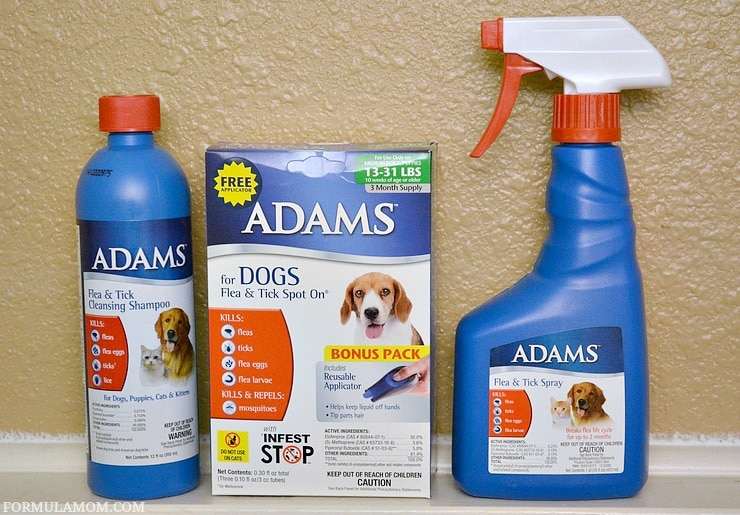 Protect your pets with Adams™ Flea & Tick Control Products as part of your flea season prep!