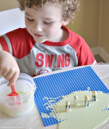 The kids will have a blast learning how to make slime! This is a great hands-on activity for kids of all ages! #ReadySetSlime