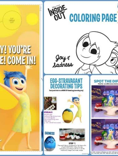 Check out these Inside Out Movie Activity Sheets to get your family excited about this new Disney/Pixar movie!