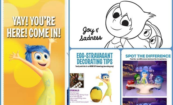 Inside Out Movie Activity Sheets