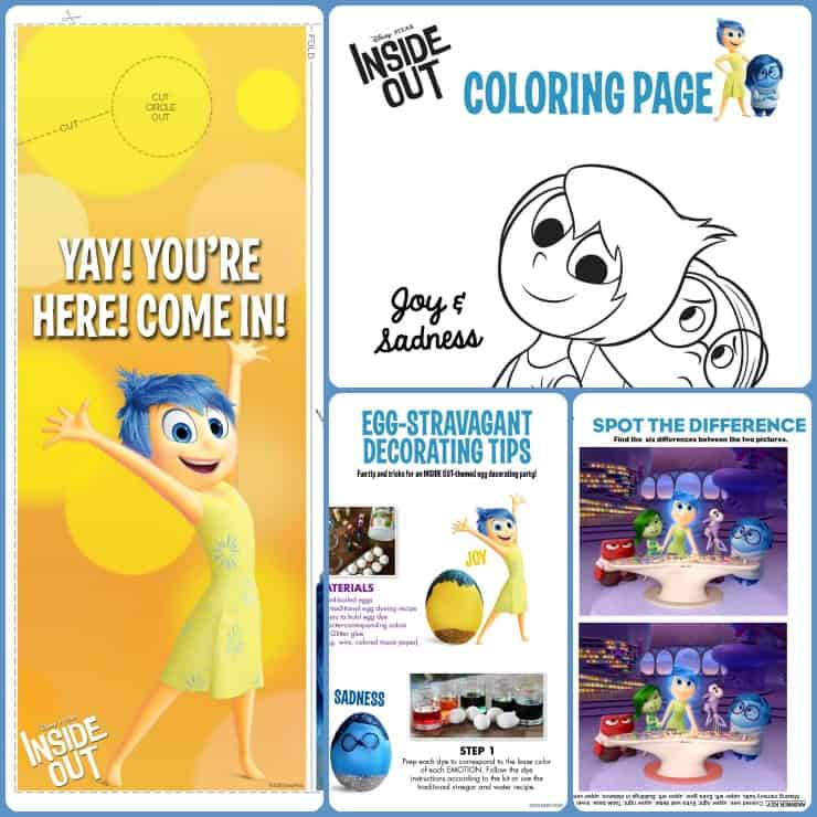 Inside Out 2015 Film: Check Out These Inside Out Movie Activity Sheets