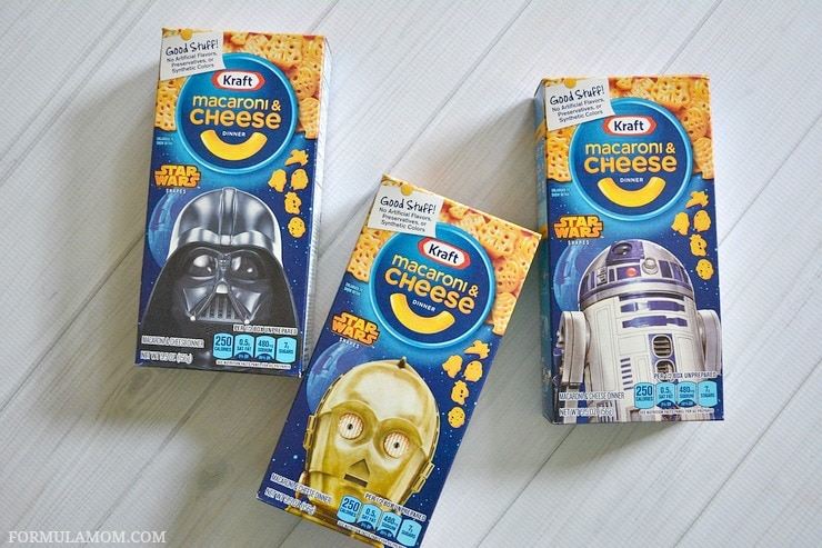 Add even more fun to your macaroni and cheese toppings bar wit KRAFT Mac & Cheese Star Wars Boxed Shapes! #youknowyouloveit