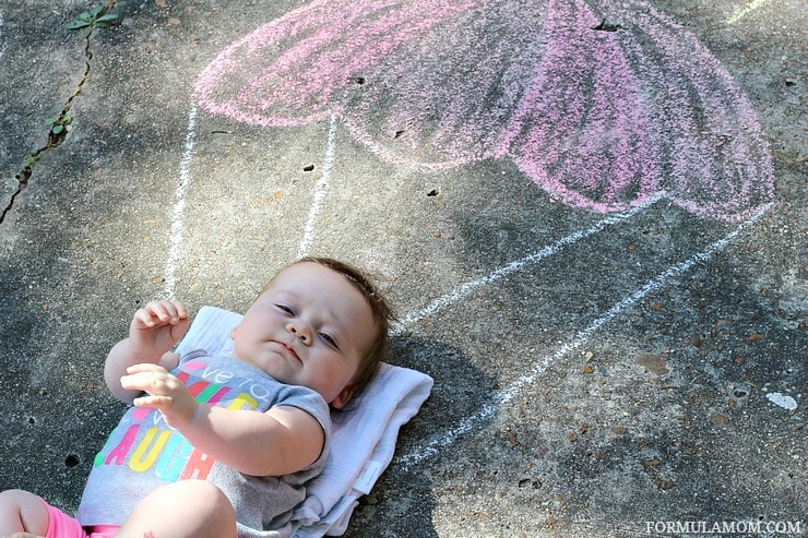 Sidewalk Chalk is even fun for mom when it comes to hands-on Spring Break Activities for kids! #EveryDayCare