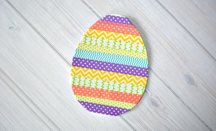 Washi Tape Easter Egg Craft