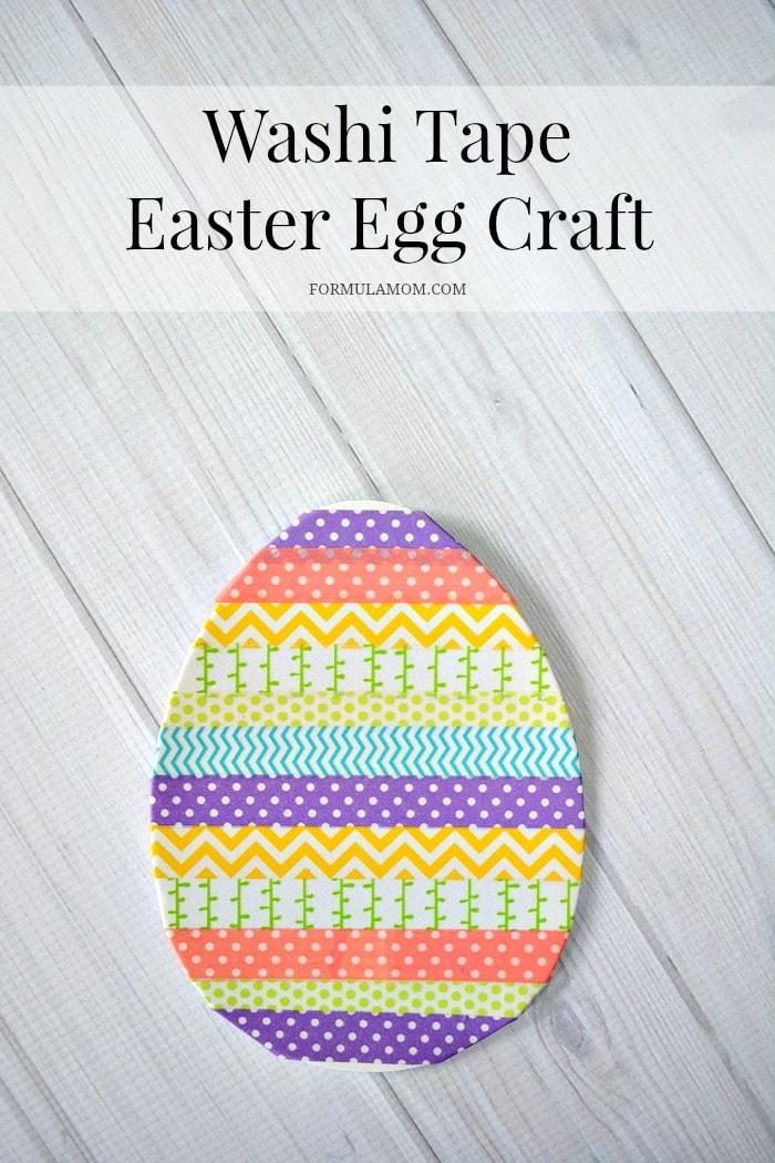 Washi Tape Easter Egg Craft #Easter