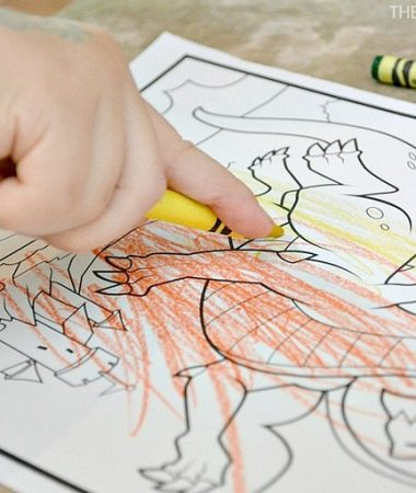 Crayola Color Alive coloring books feature a variety of characters like these mythical creatures.