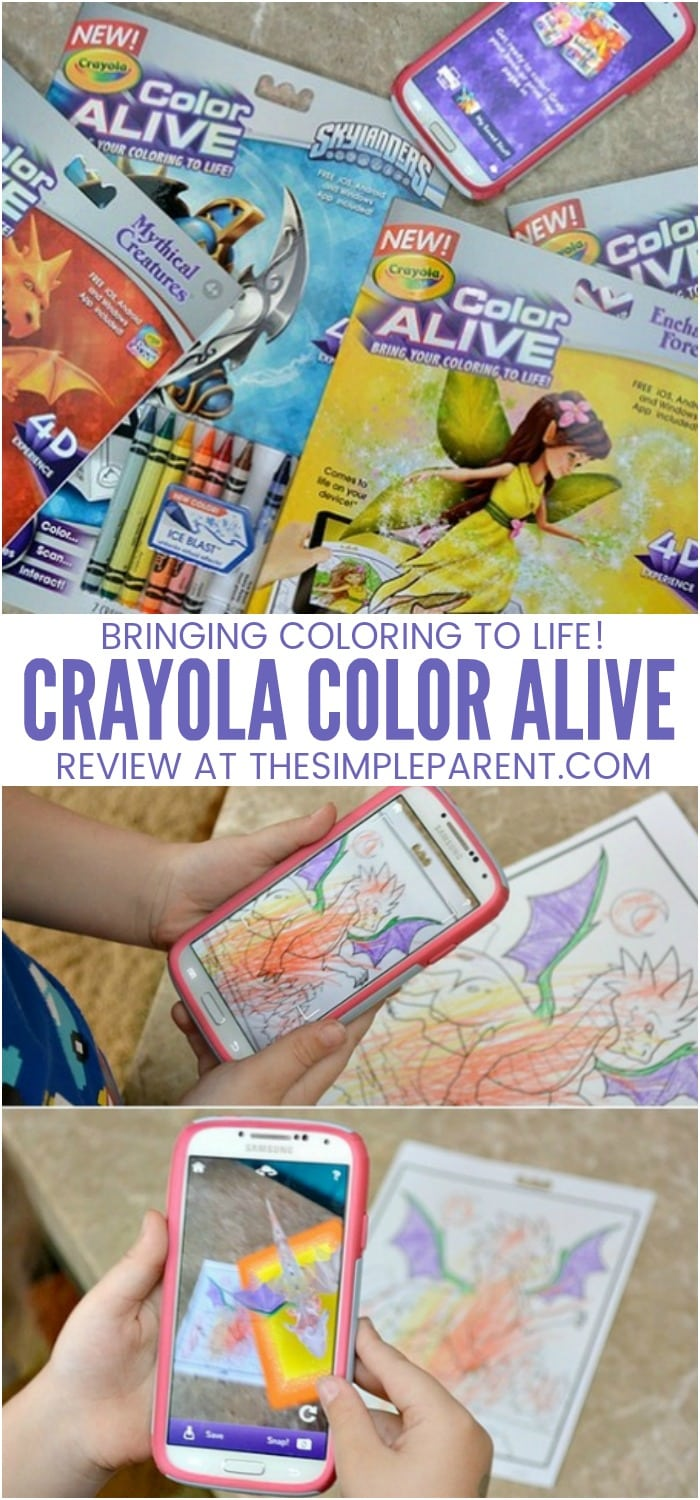 Crayola Color Alive - Use the Color Alive 2.0 app to bring your child's coloring pages to life. Read this review to learn how the technology works. Check out the featured characters in Color Alive books like Skylanders, Barbie, and more!