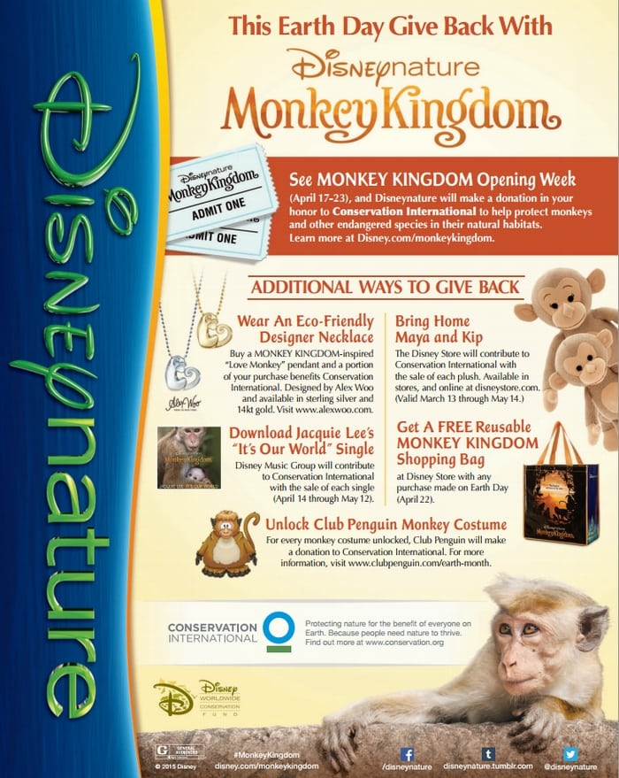 See how you can give back with Dusneynature's Monkey Kingdom! #Disney #MonkeyKingdom