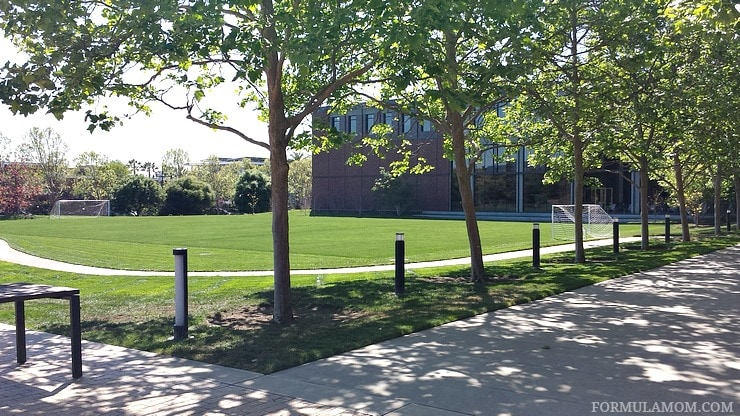 Exclusive Pixar Studios Tour: The Grounds on Campus includes a soccer field, pool area, basketball court and more!