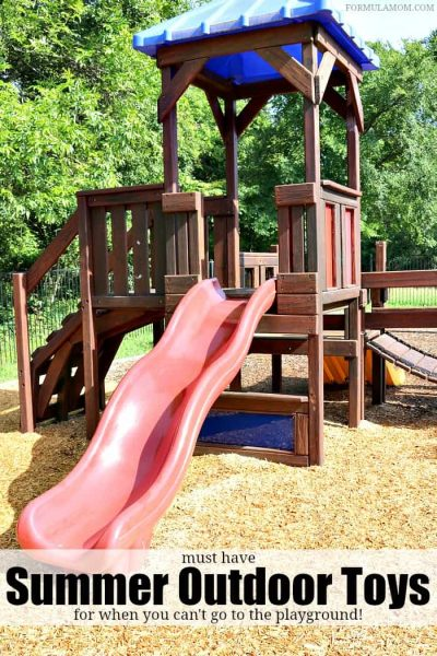 Must Have Summer Outdoor Toys for Toddlers that are perfect for when you can't take them to the playground! These toys are great summer activities for kids that will last for more than a season!