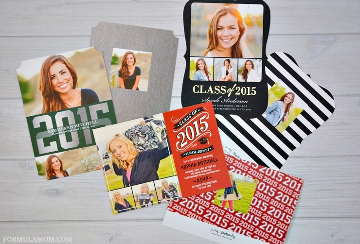 Graduation announcements from Shutterfly