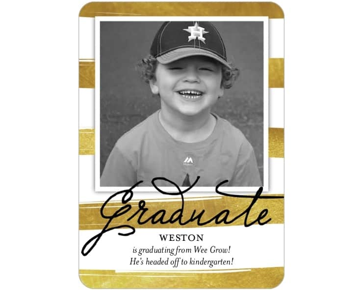 Celebrate transitioning from preschool to kindergarten with graduation announcements!