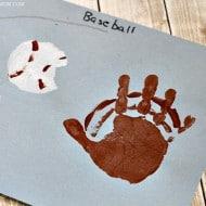 Handprint Baseball Craft for Kids