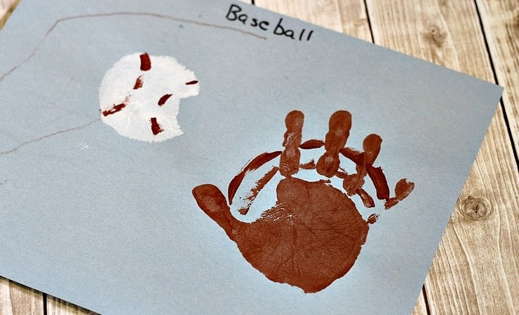 Handprint Baseball Craft for Kids