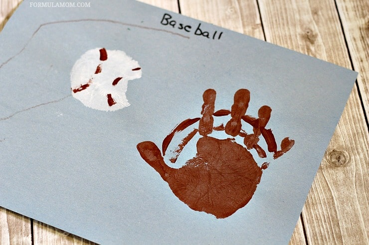 Have Fun Celebrating Baseball Season And Summer With These Easy Handprint Craft