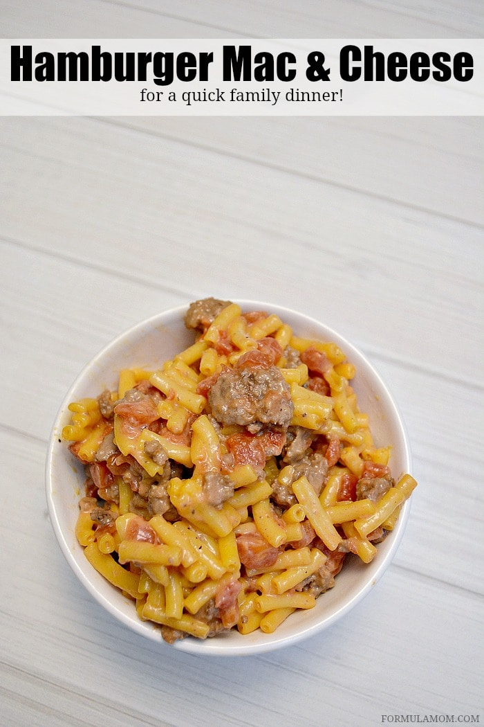 Easy Hamburger Macaroni and Cheese Recipe is a great family friendly ...