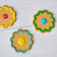 Easy No Bake Flower Cookies