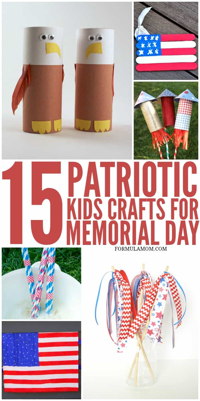 15 Patriotic Crafts For Kids Memorialday 4thofjuly