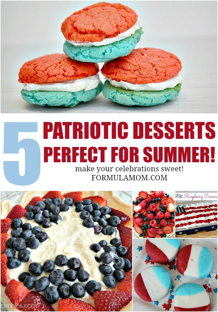 Check out some of my favorite Patriotic Desserts for summer! Great Memorial Day recipes and 4th of July recipes for families!