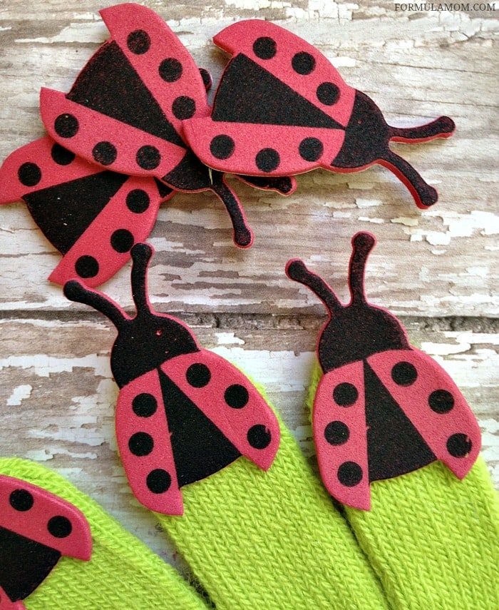 Use craft foam ladybug stickers to make this fun Spring Craft for Kids! This ladybug craft is great for kids of all ages!