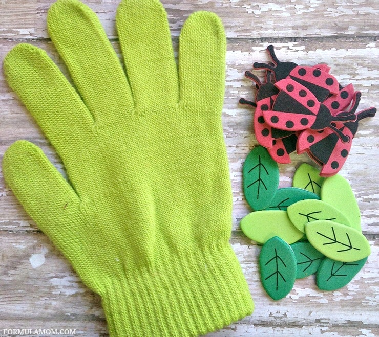 Here's what you need to make this fun Spring Ladybug craft for kids!
