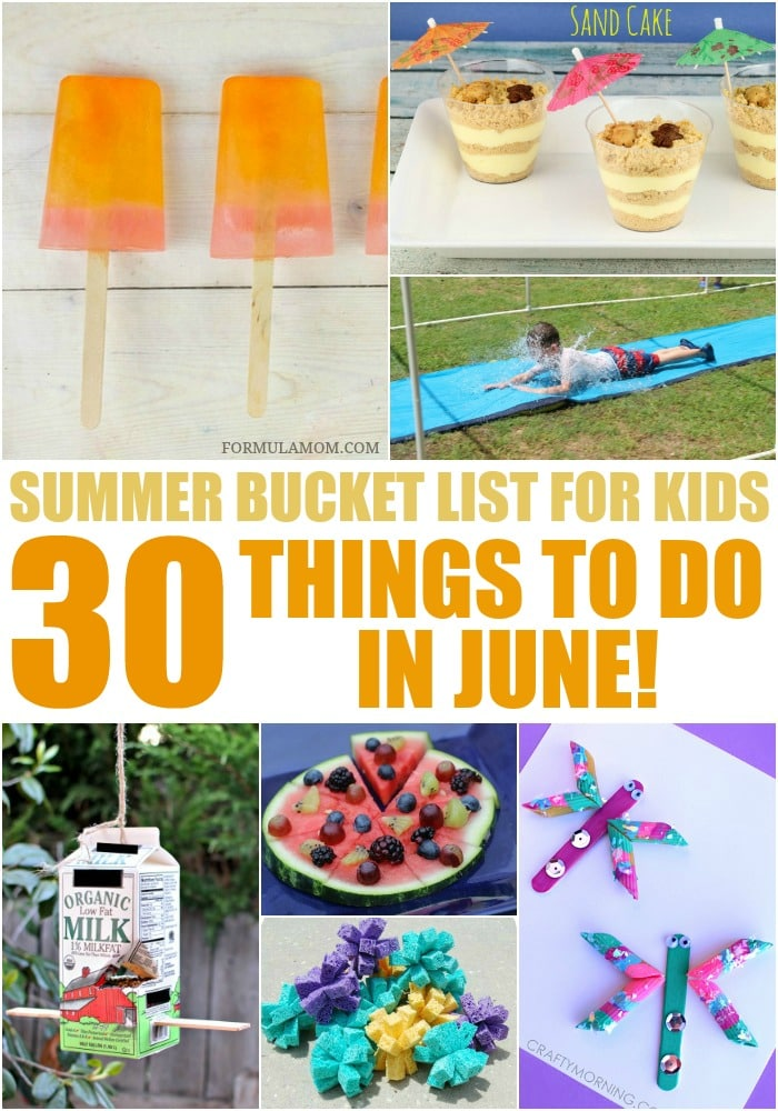 Looking for things to do with the kids this summer? Check out our Summer Bucket List for Kids and get started with these 30 ideas for June!