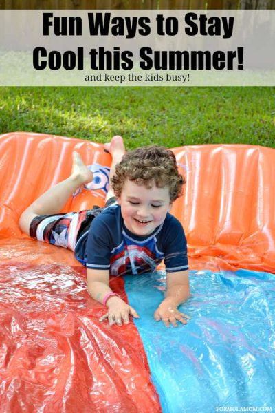 Check out some fun ways to keep cool in the summer! Get the kids outside with some fun water play ideas and other great summer activities! #summer