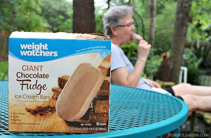 Enjoying delicious Weight Watcher's Ice Cream