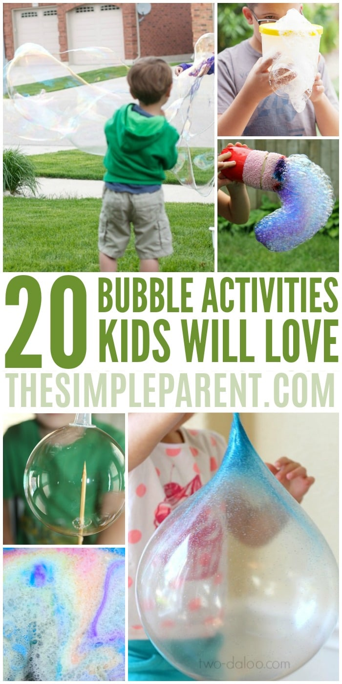 Bubble Activities for Kids - These fun bubbles activities are great for toddlers, preschoolers, and even kindergartners. Bubble science experiments, art projects, and more! #8 is one of our favorites!