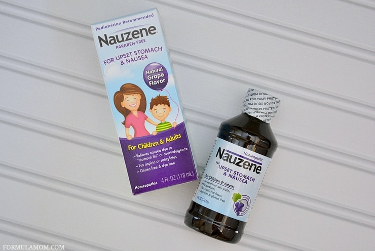 Handle the messy side of parenting aka child nausea with help from Nauzene®!