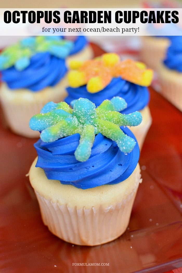 Make your summer get together a blast with these easy beach party ideas! Make these cute ocean themed cupcakes and have your own Octopus Garden!